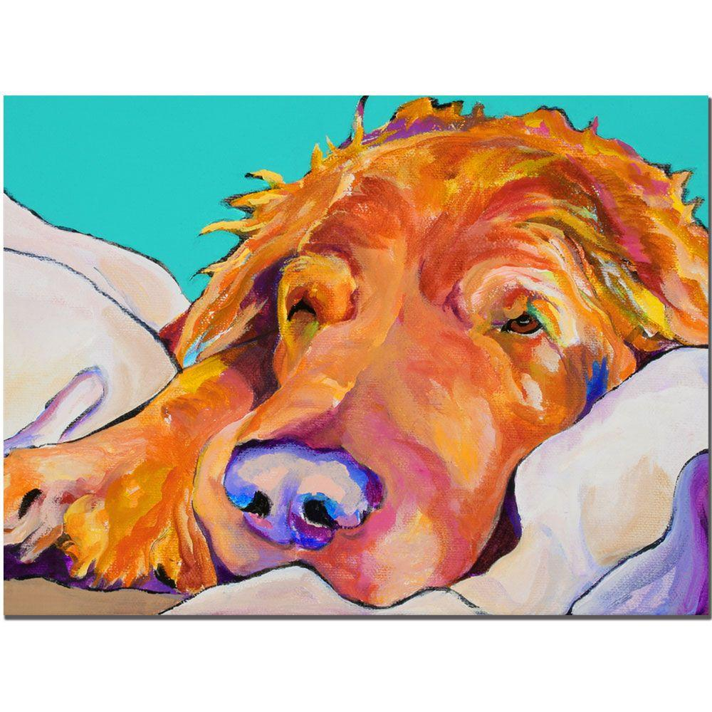 Trademark Fine Art 14 in. x 19 in. Snoozer King Canvas Art