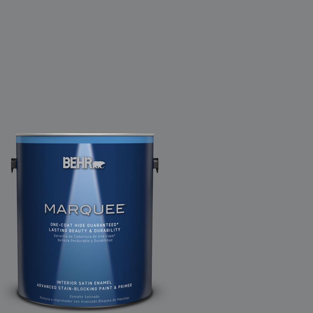 1 gal. #T12-10 Game Over Satin Enamel Interior Paint