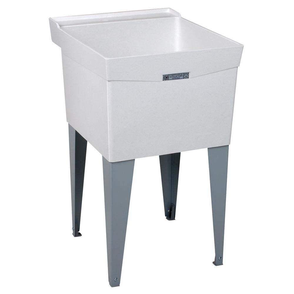 Fiberglass Utility Sink : ... 24 in. Fiberglass Floor-Mount Laundry/Utility Tub-18F - The Home Depot