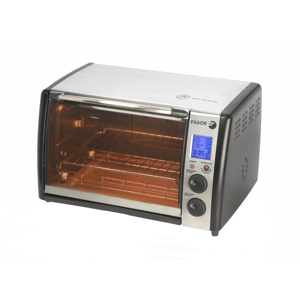 Fagor Dual Technology Digital Countertop Toaster Oven with Rotisserie