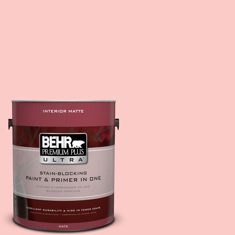 1 gal. #170A-2 Strawberry Mousse Flat/Matte Interior Paint