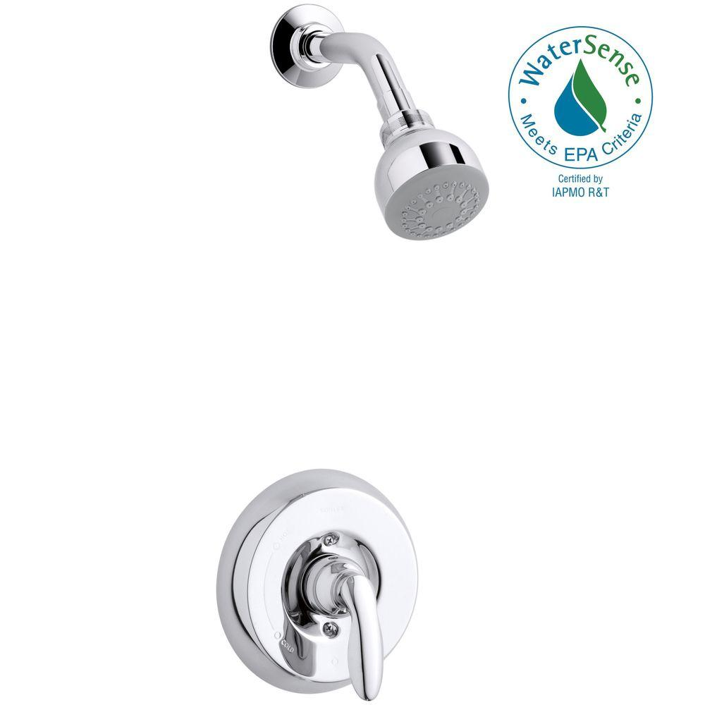 KOHLER Coralais 1-Handle Wall-Mount Shower Trim Kit in Polished Chrome (Valve Not Included)
