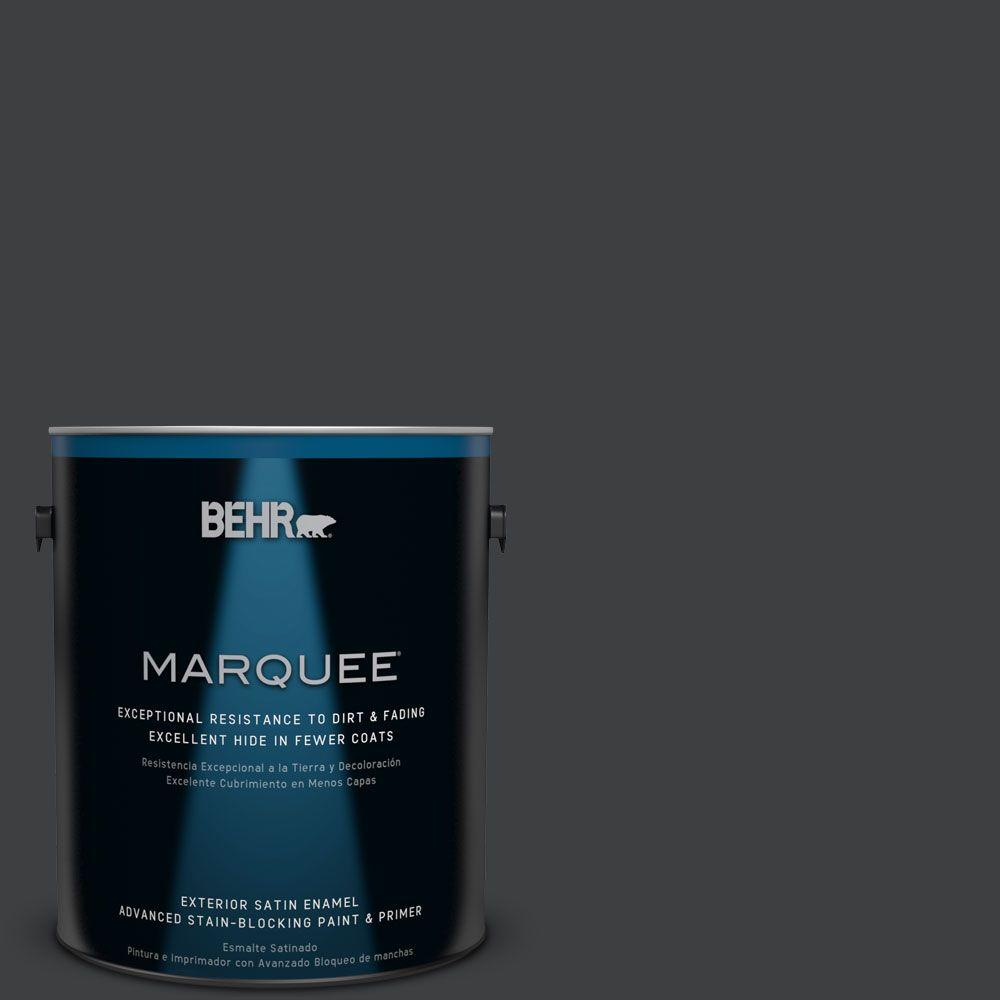 BEHR MARQUEE Home Decorators Collection 1-gal. #HDC-MD-04 Totally Black Satin