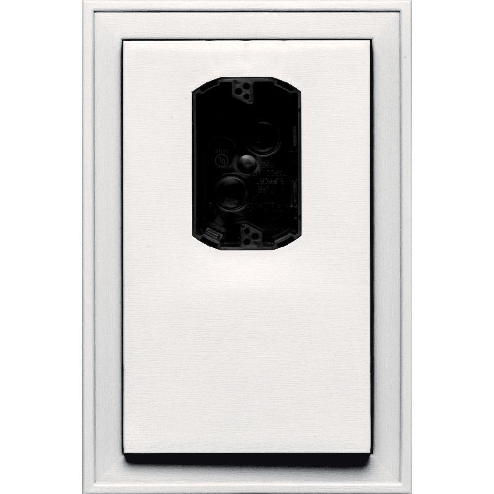 8.125 in. x 12 in. #117 Bright White Jumbo Electrical Mounting