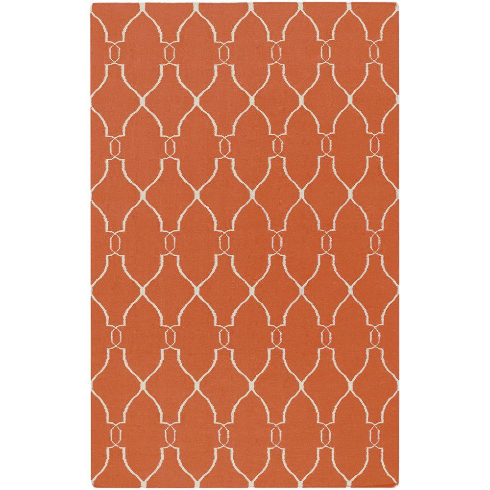 Surya Jill Rosenwald Coral 3 ft. 6 in. x 5 ft. 6 in. Flatweave Area Rug