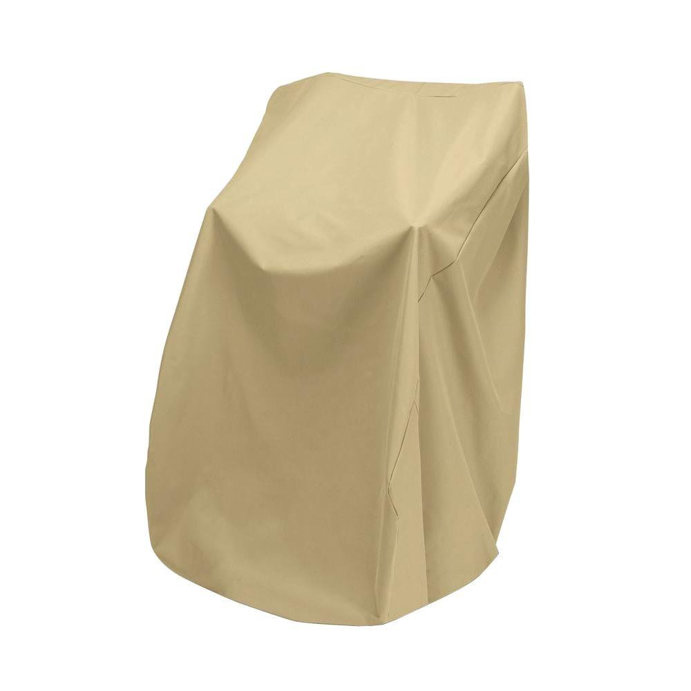 Two Dogs Designs 48 in. Khaki Stacked Patio Chair Cover-2D-PF40365 -