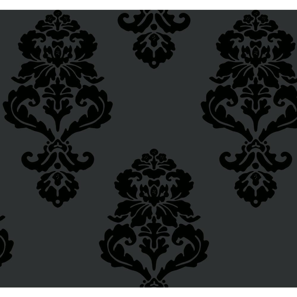 York Wallcoverings 60.75 sq. ft. Graphic Damask Wallpaper