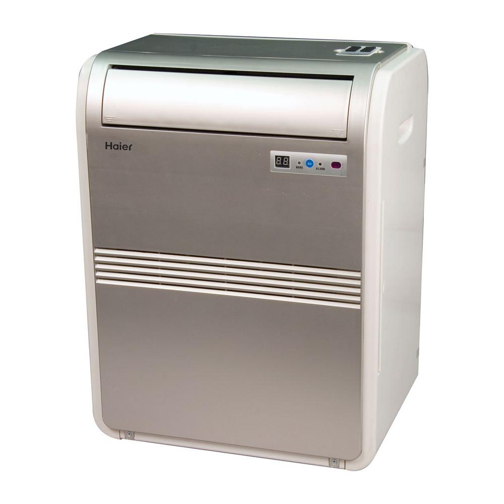 Haier 8,000 BTU 250 sq. ft. Cool Only Portable Air Conditioner with 70 Pint/Day Dehumidification Mode and LCD Remote Control