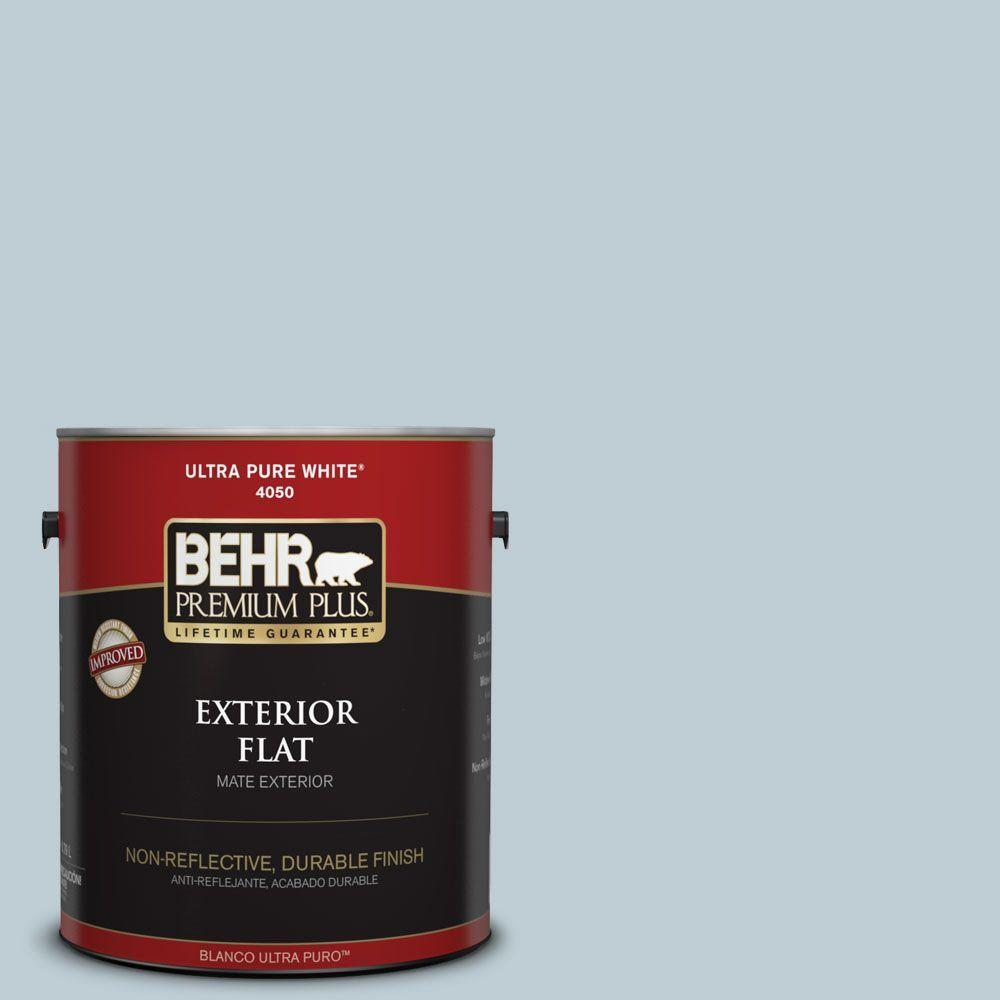 1-gal. #540E-2 Cloudy Day Flat Exterior Paint