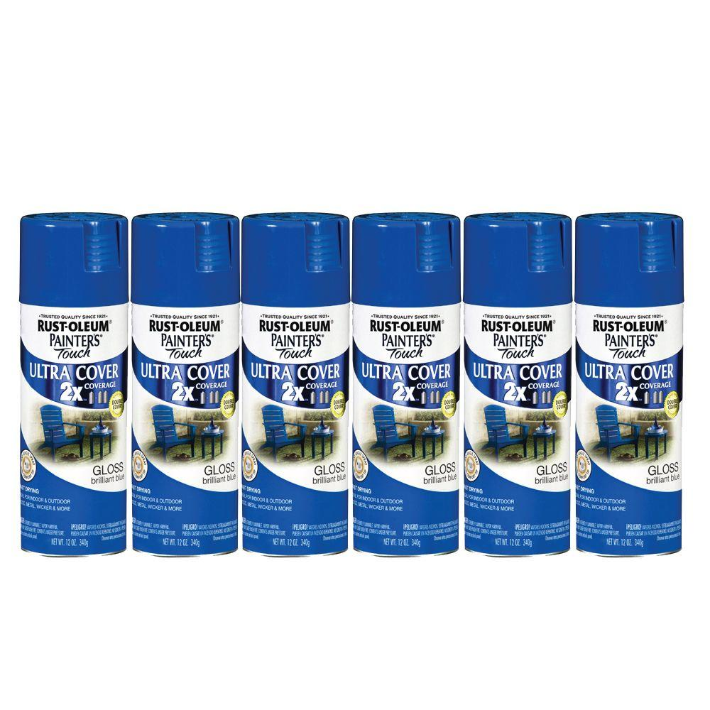 Painter's Touch 12 oz. Gloss Brilliant Blue Spray Paint (6-Pack)-DISCONTINUED