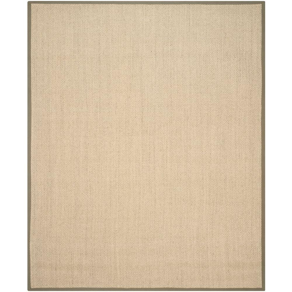 Natural Fiber Beige/Green 9 ft. x 12 ft. Area Rug