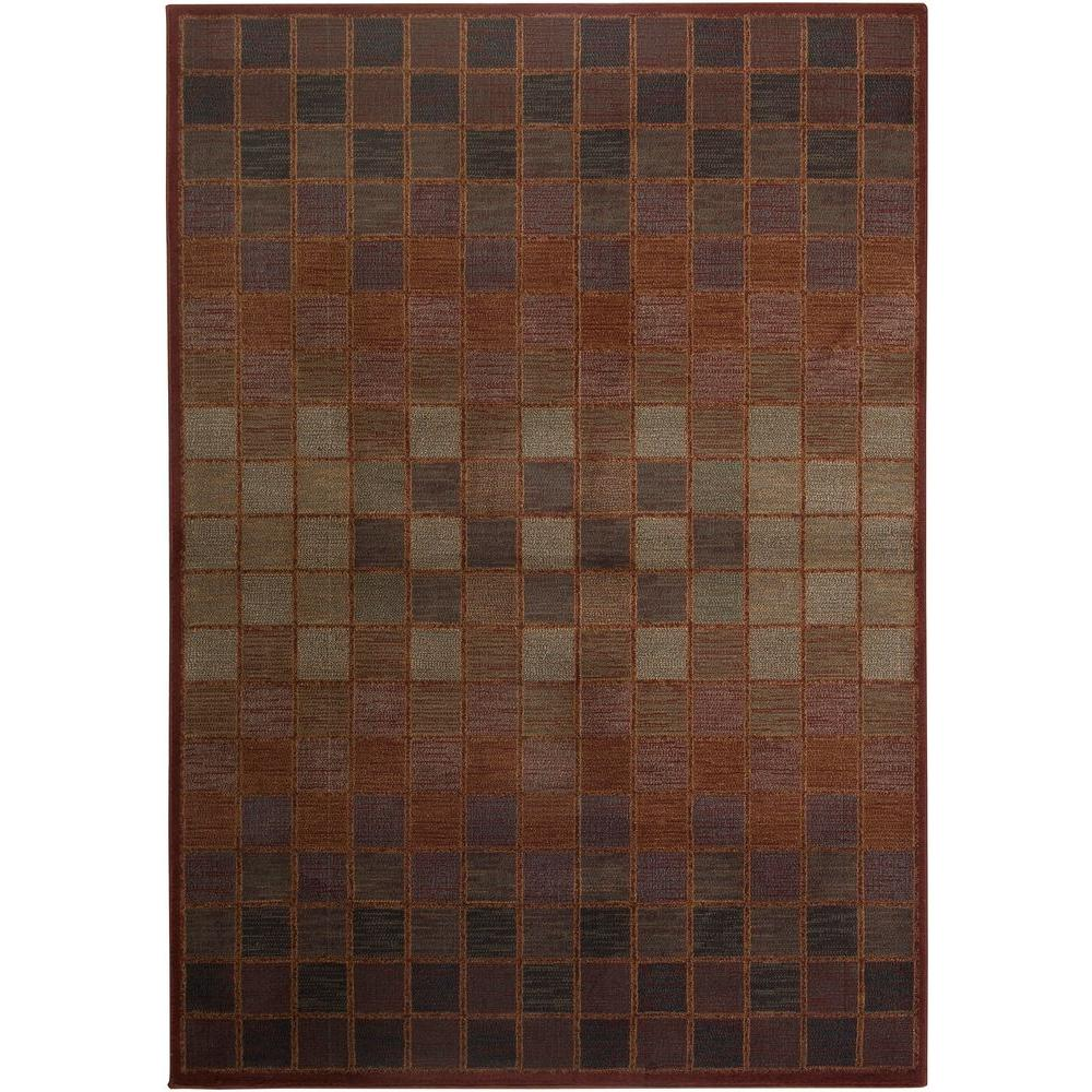 Rizzy Home Bellevue Collection Rust 1 ft. 8 in. x 2 ft. 6 in. Area Rug-DISCONTINUED