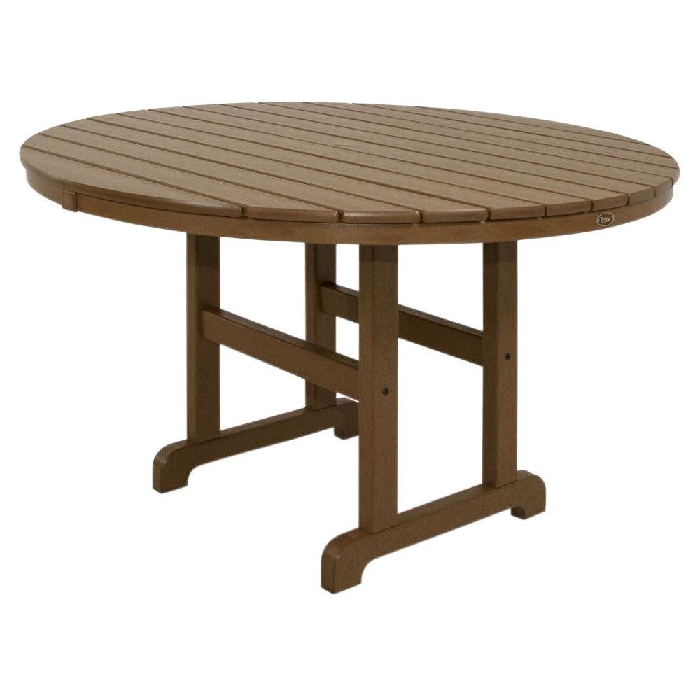 Trex outdoor furniture monterey bay 36 in tree house round patio dining table txrt236th the Home furniture rental tampa