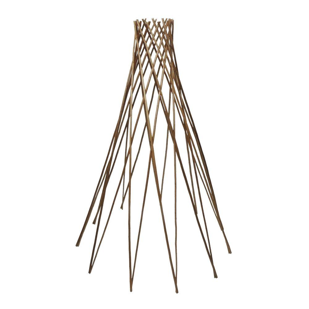 GardenPath 72 in. H Teepee Peeled Willow Flower/Plant Support-0445072 - The