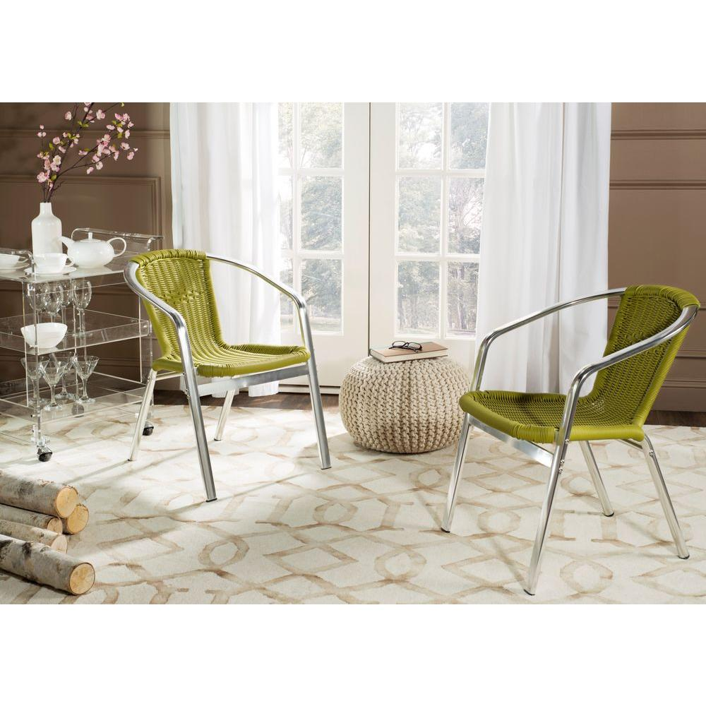 Wrangell Green Patio Dining Chair (2-Pack)