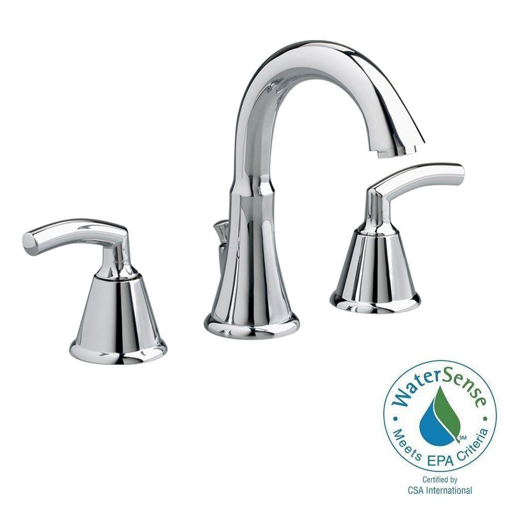 Tropic 8 in. Widespread 2-Handle Mid-Arc Bathroom Faucet in Chrome with