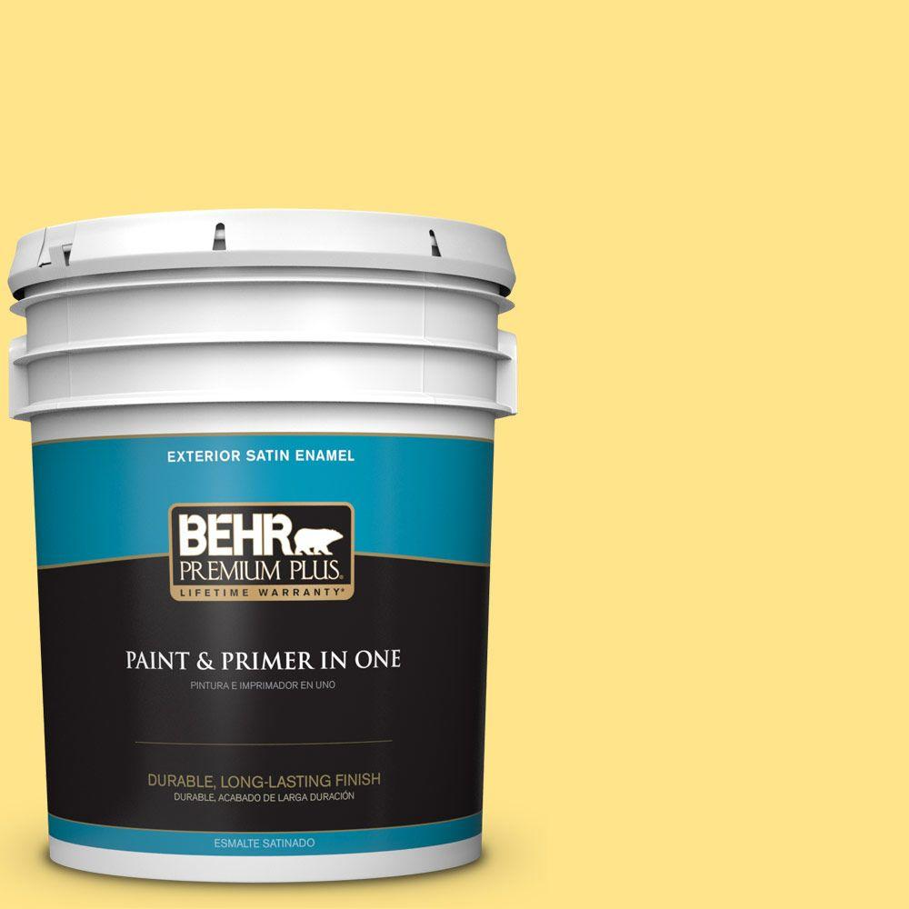 5-gal. #370A-3 Bicycle Yellow Satin Enamel Exterior Paint