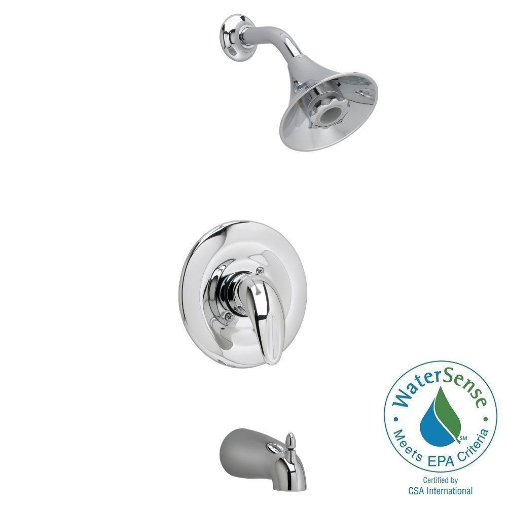 American Standard Reliant FloWise Single-Handle 1-Spray Tub and Shower Faucet in Polished Chrome (Valve Not Included)