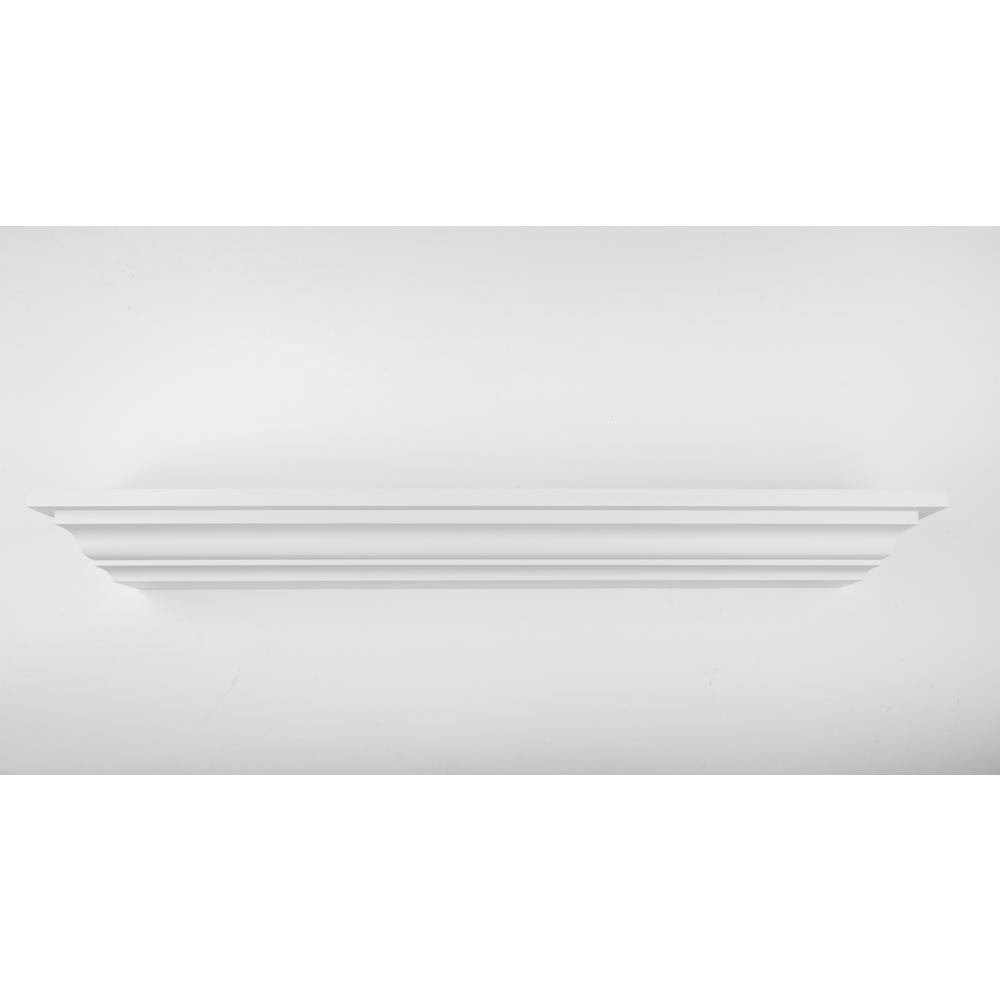 12 in. L x 5 in. D Floating White Crown Molding