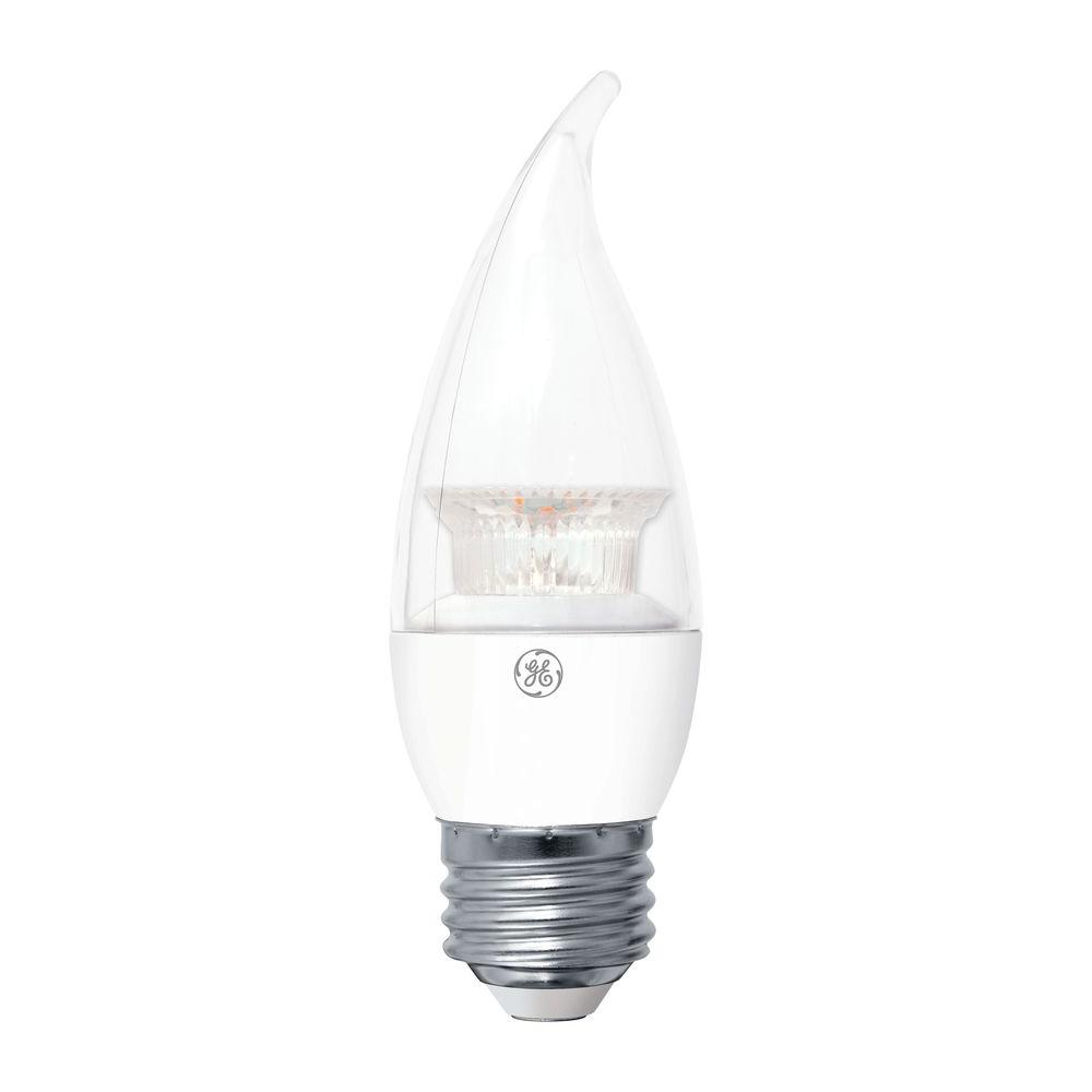 60W Equivalent Soft White Bent Tip CA11 Dimmable LED Light Bulb