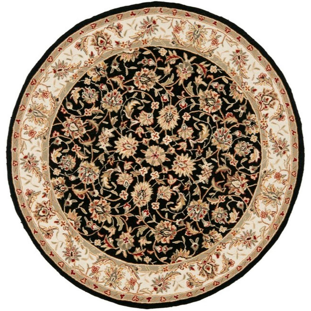 Chelsea Black 8 ft. x 8 ft. Round Area Rug