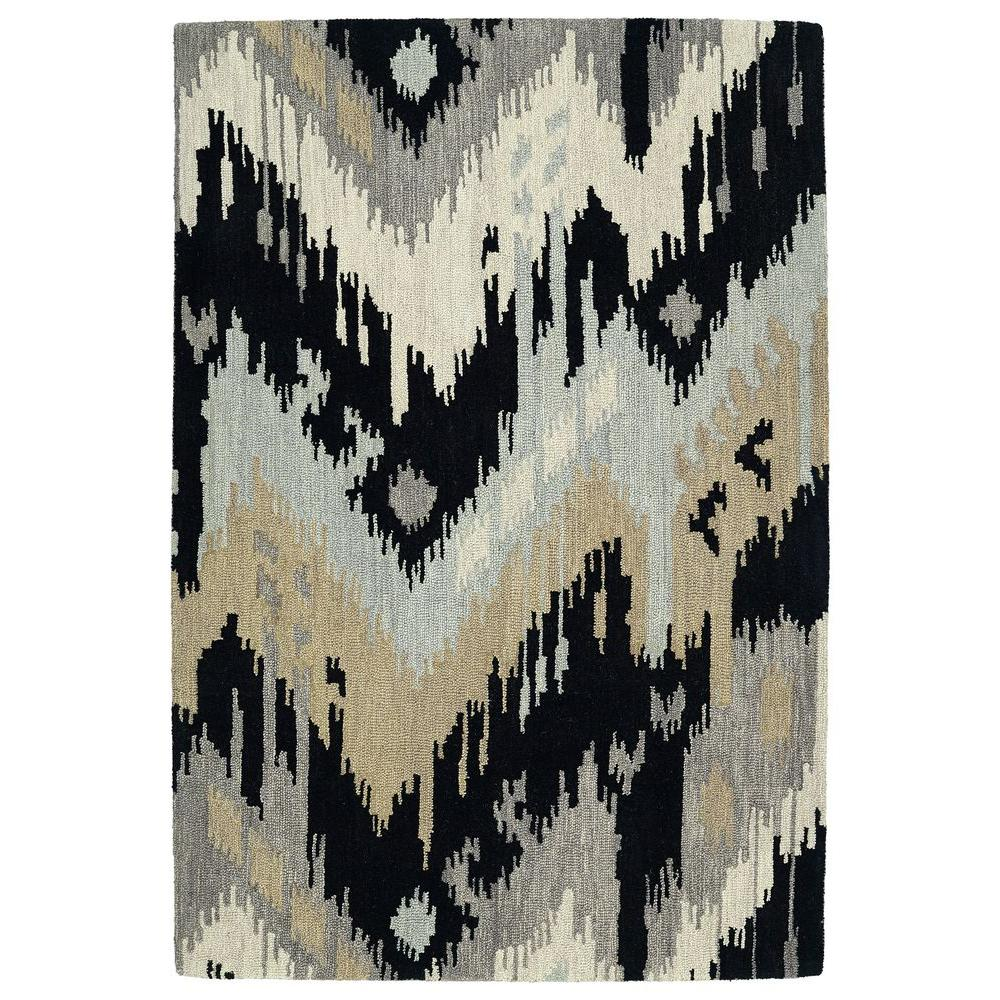 Casual Black 8 ft. x 11 ft. Area Rug