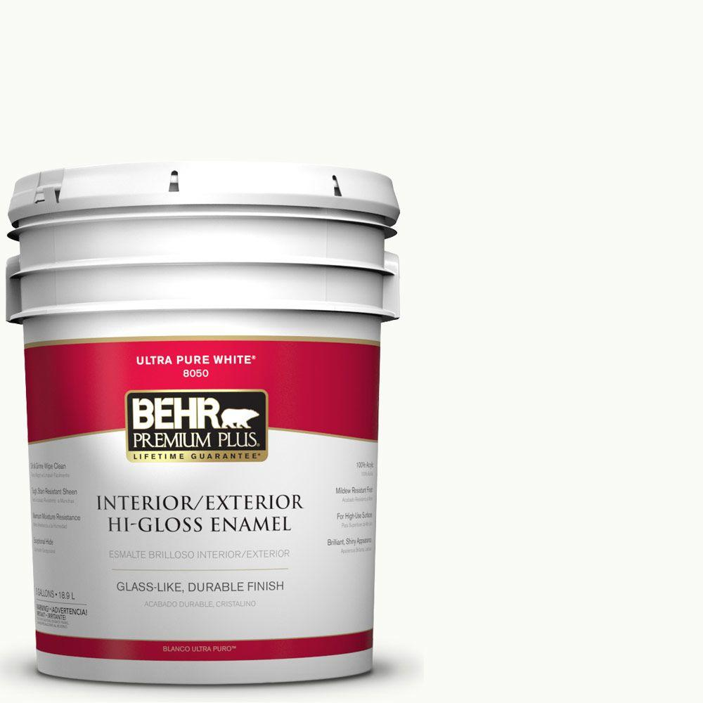 5-gal. #PR-W15 Ultra Pure White Hi-Gloss Enamel Interior/Exterior Paint