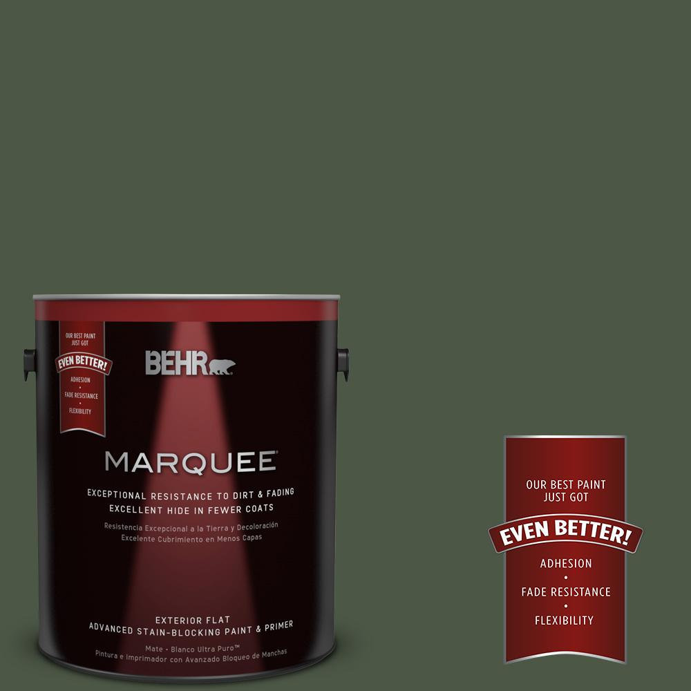 BEHR MARQUEE 1-gal. #440F-7 Fresh Pine Flat Exterior Paint