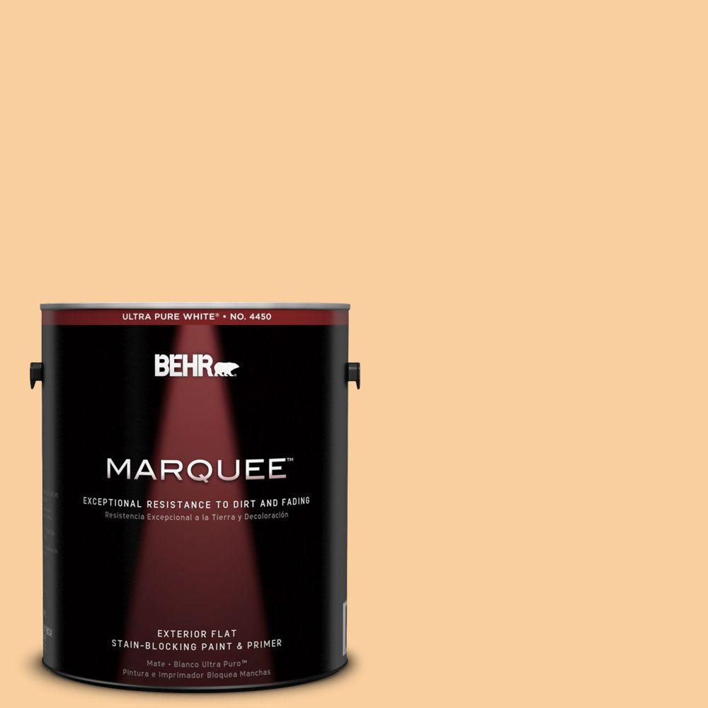 BEHR MARQUEE 1-gal. #310C-3 Warm Cocoon Flat Exterior Paint