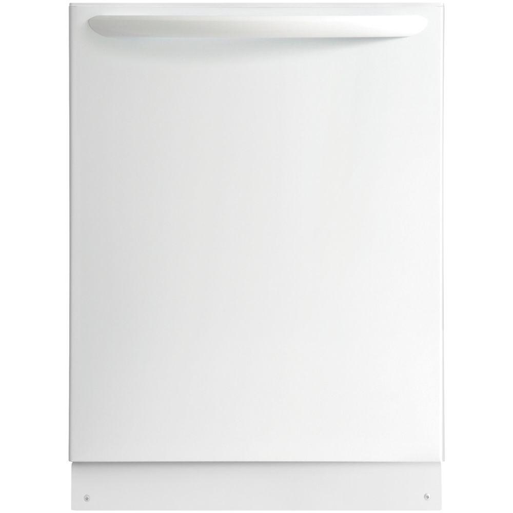 Top Control Built-In Dishwasher with OrbitClean Spray Arm in White