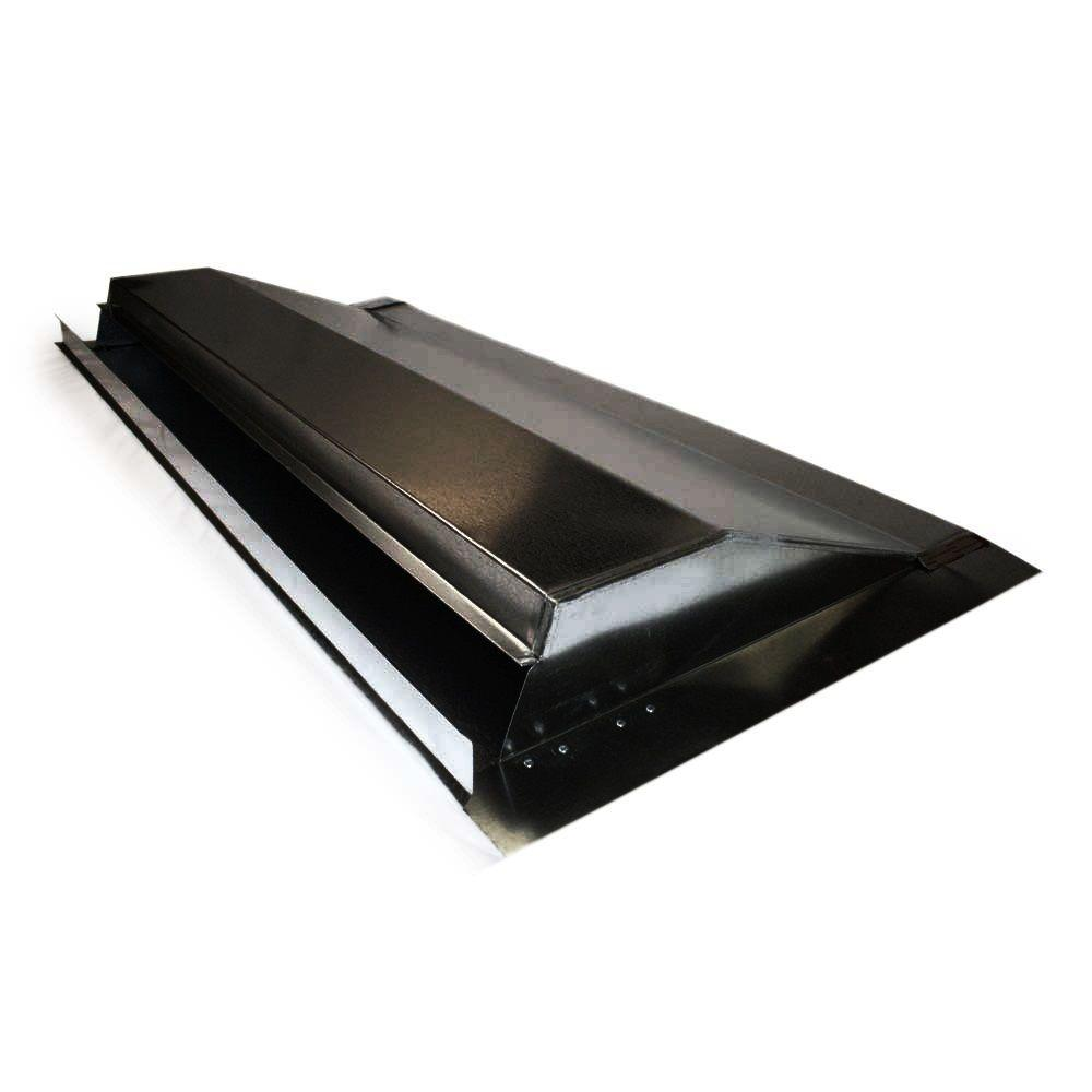 4 ft galvanized steel weather vent in black 63001 the for Off ridge vents