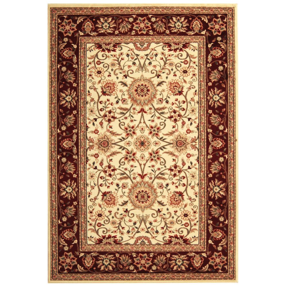 Lyndhurst Ivory/Red 8 ft. x 11 ft. Area Rug