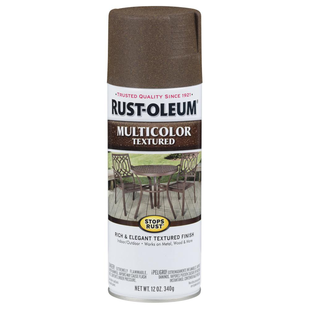 Rust Oleum Stops Rust 12 Oz Protective Enamel Multi Colored Textured Autumn Brown Size Spray