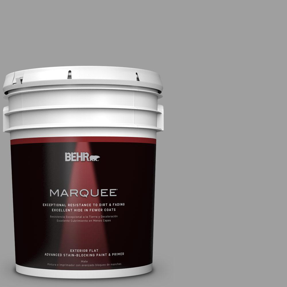 BEHR MARQUEE 5 gal. #PPU26-06 Elemental Gray Matte Exterior Paint-445405 -