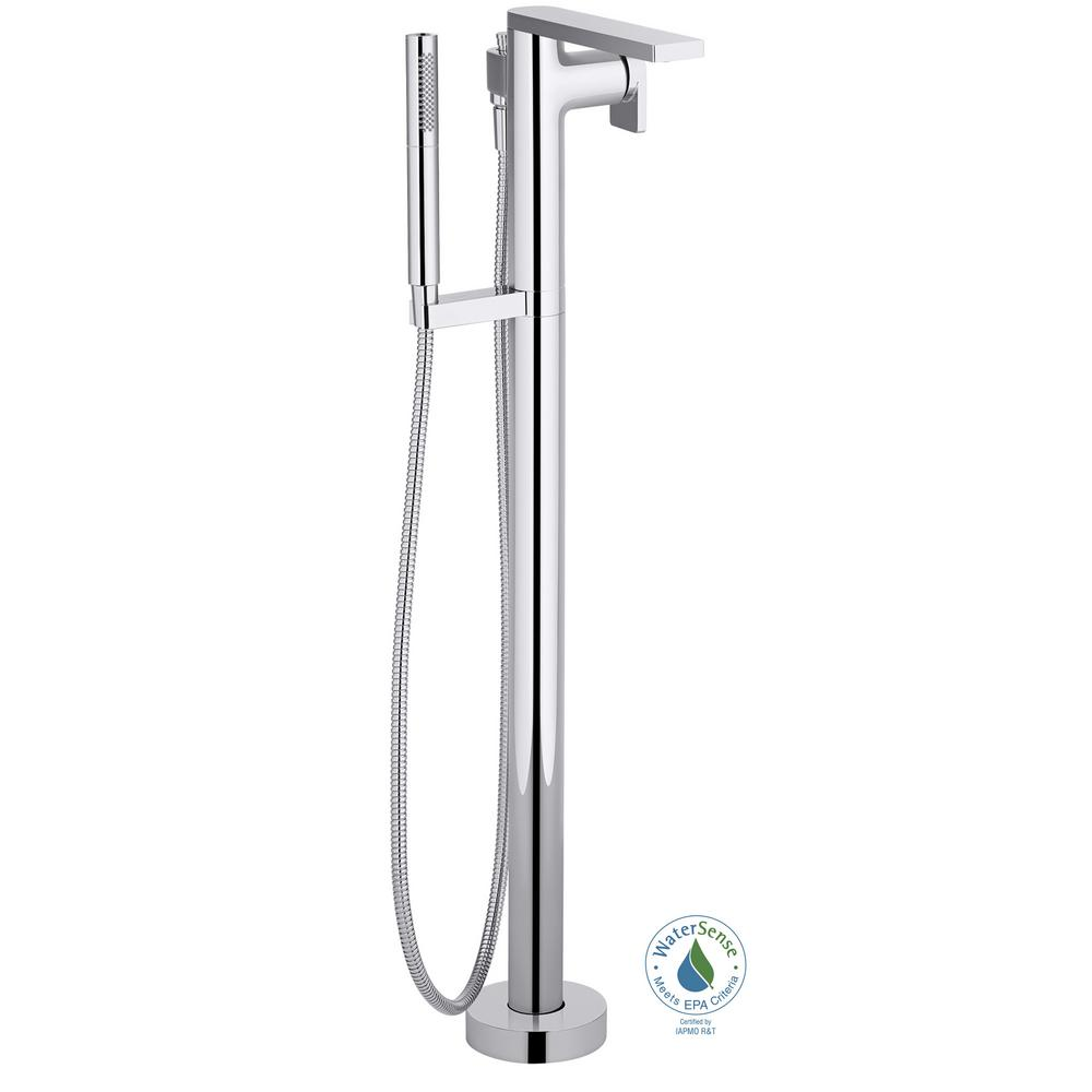 KOHLER Composed Single Handle Claw Foot Tub Faucet with Bath ...