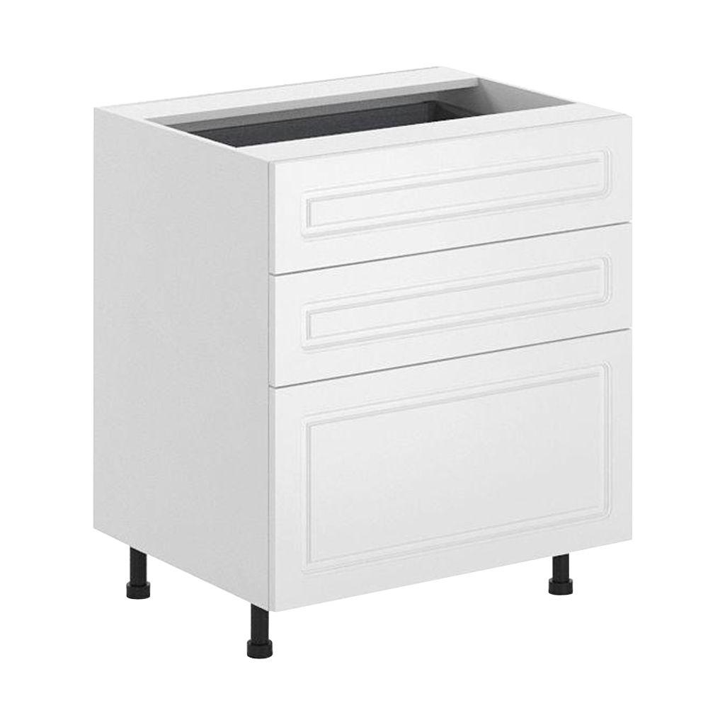 Fabritec Ready to Assemble 30x34.5x24.5 in. Lausanne 3-Drawer Base Cabinet in