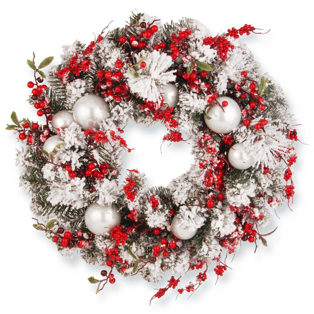 24 in. Christmas Artificial Wreath