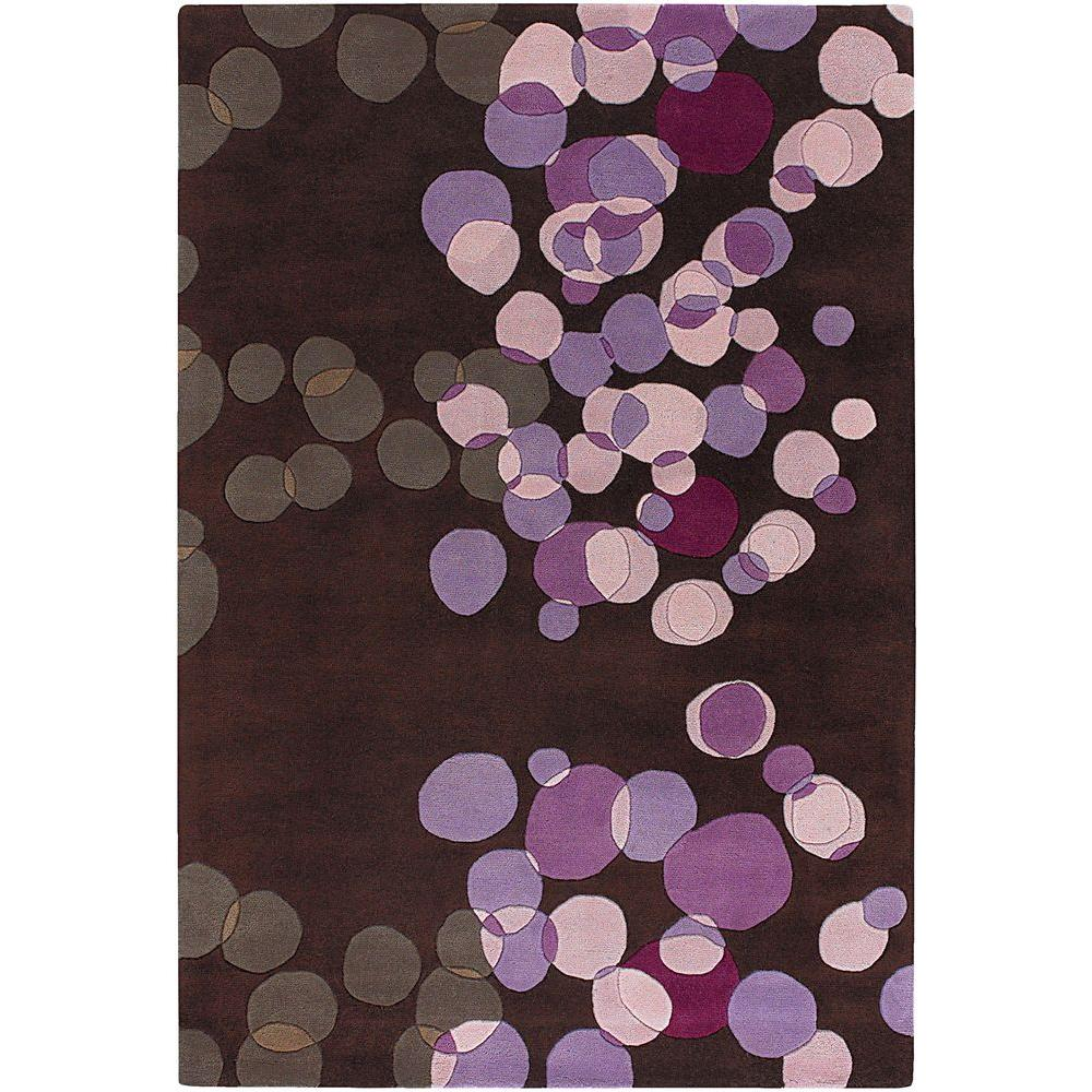 Chandra Avalisa Brown/Purple/Pink/Taupe 7 ft. 9 in. x 10 ft. 6 in. Indoor Area Rug