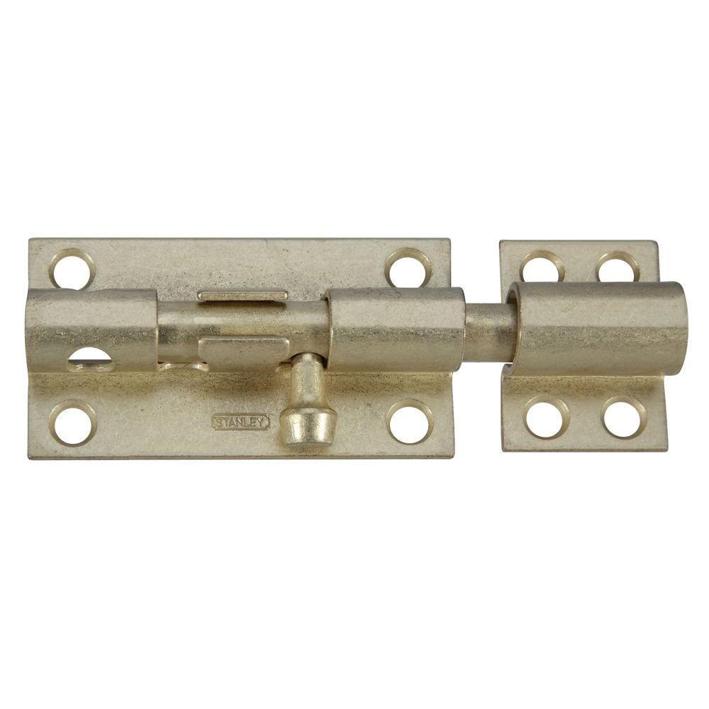 Stanley-National Hardware 4 in. Satin Brass Heavy Barrel Bolt with Screws-CD1084