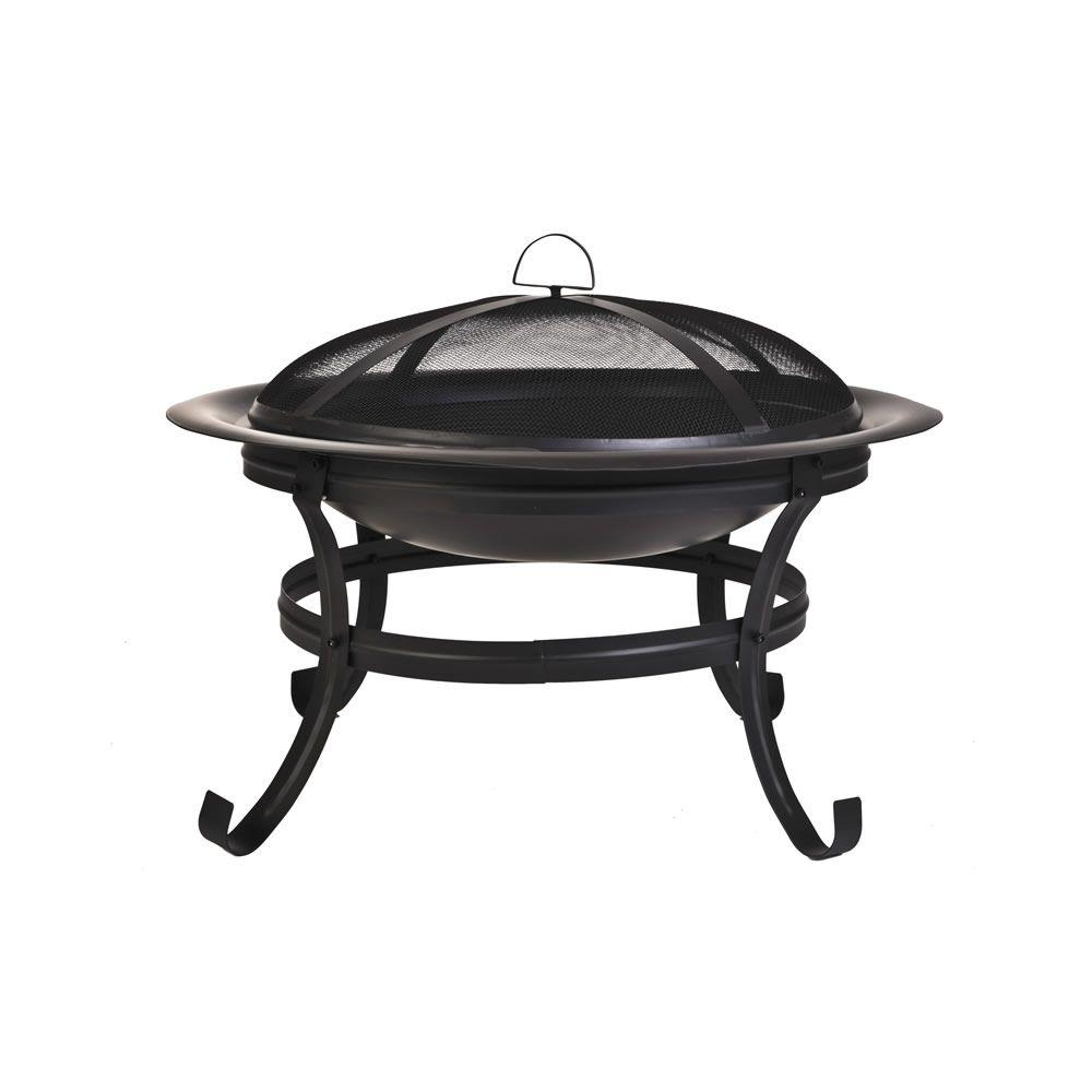CobraCo Basic Black Fire Pit with Scroll Legs