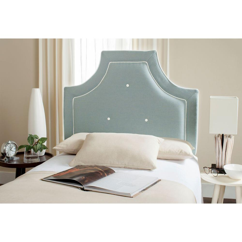 Safavieh Tallulah Solid Wood Twin Headboard in Sky Blue and White-MCR4045C-T