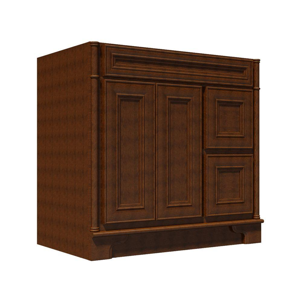 Home decorators collection pacific ranch 36 in vanity cabinet only in umber pr b um vtr36t Home decorators collection 36 vanity