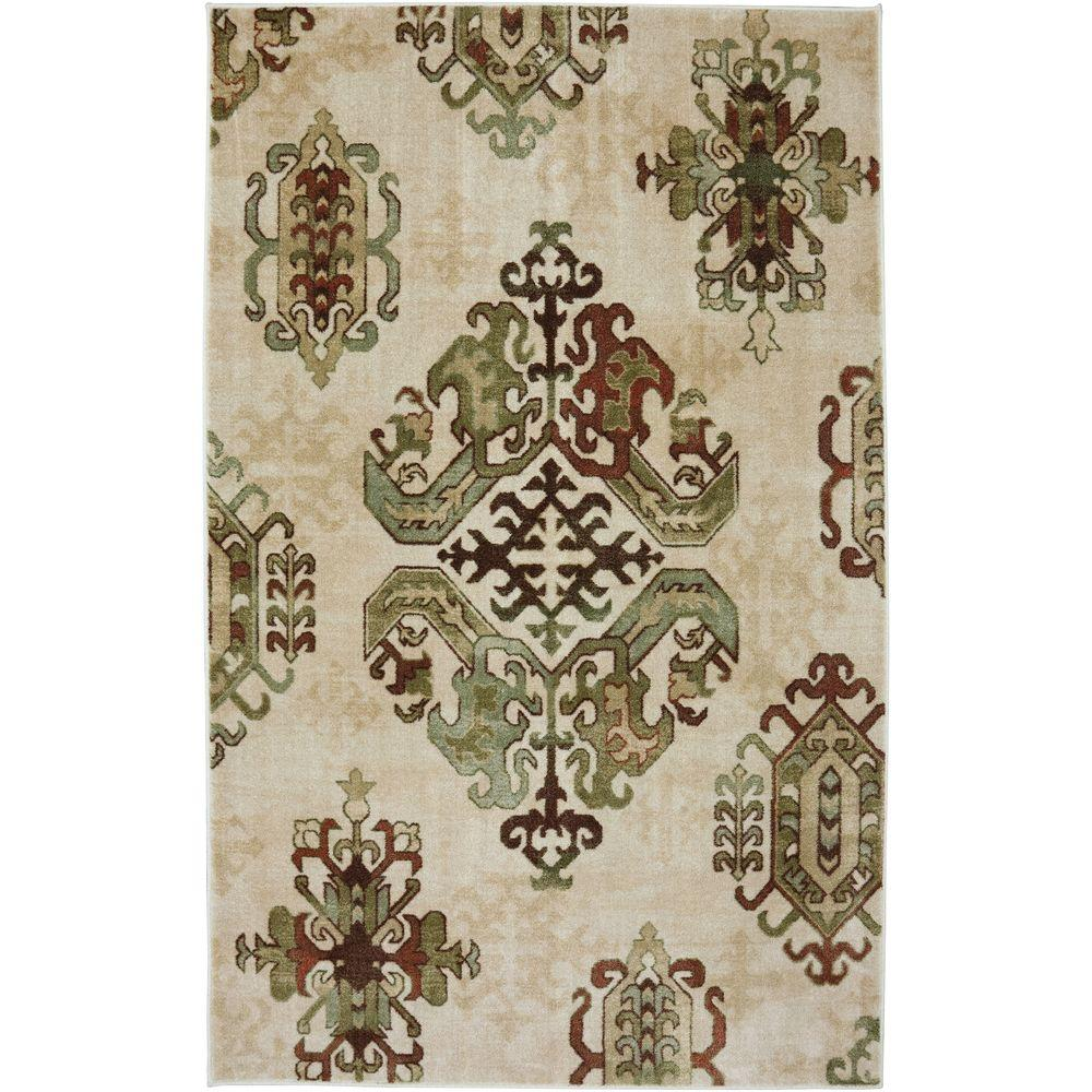 Mohawk Home Green Palm Inn Neutral 3 ft. 4 in. x 5 ft. Area Rug