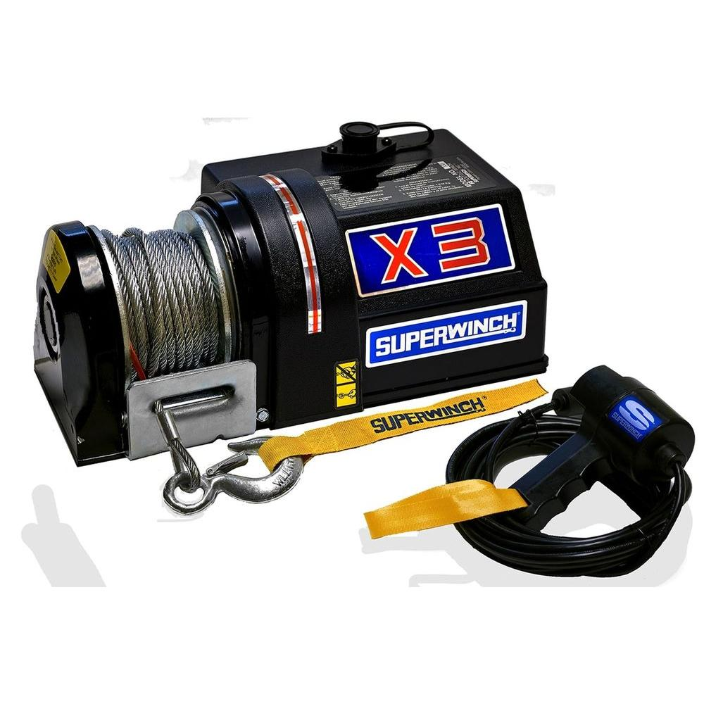 Superwinch X3 Series 4,000 lb. 24-Volt DC Utility Winch with Hawse Fairlead and On-The-Motor Switch