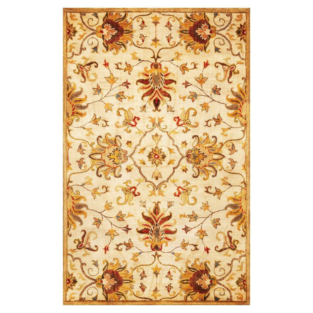 Kas Rugs Touch of Agra Champagne 8 ft. x 10 ft. 6 in. Area Rug