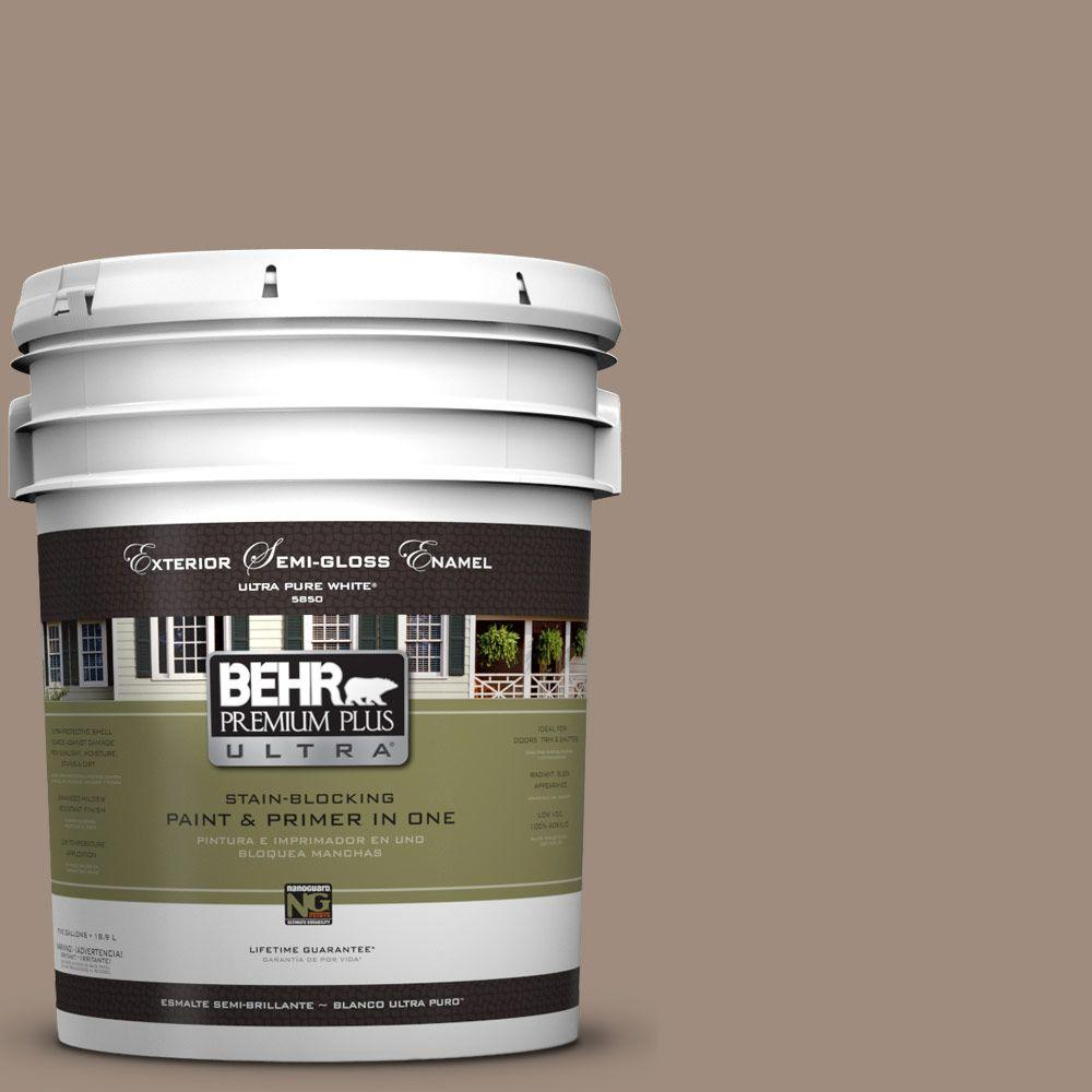 5-gal. #UL140-6 Antique Leather Semi-Gloss Enamel Exterior Paint
