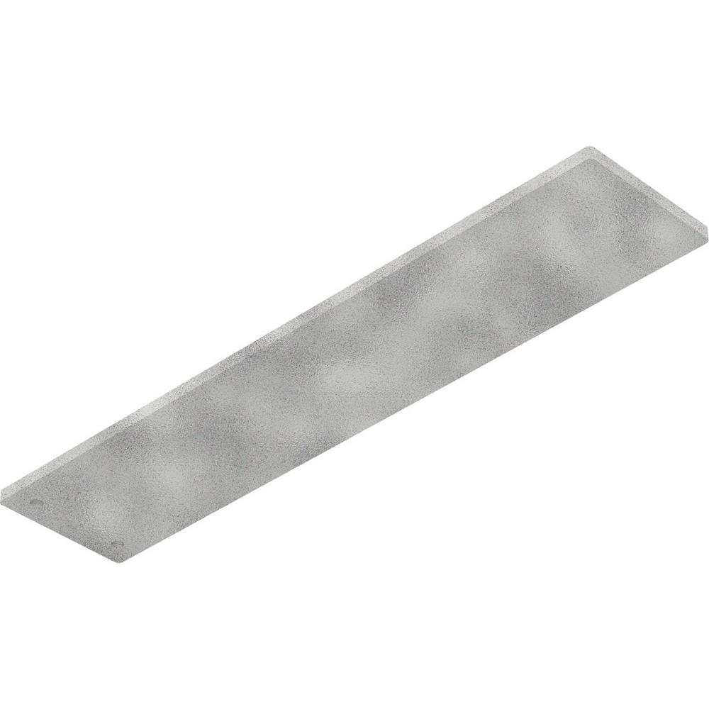 0.25 in. x 3 in. x 14 in. Steel Hammered White