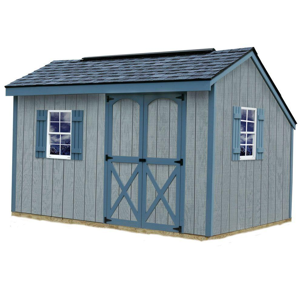 Best Barns Aspen 8 ft. x 12 ft. Wood Storage Shed Kit with Floor