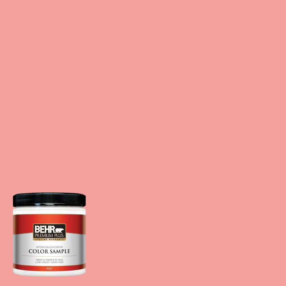 BEHR Premium Plus 8 oz. #150B-4 Pink Eraser Interior/Exterior Paint Sample