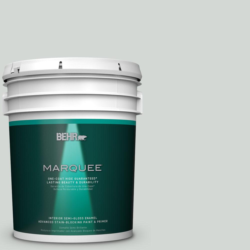 5 gal. #PPU25-13 Misty Coast Semi-Gloss Enamel Interior Paint